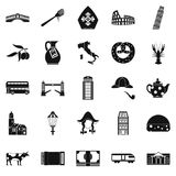 Vatican icons set, simple style Royalty Free Stock Photo