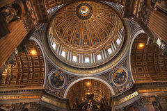 Vatican Inside Michelangelo's Dome Rome Royalty Free Stock Photos