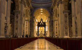 Vatican - inside view Royalty Free Stock Photo