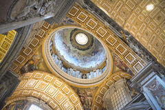 Vatican, Interior dome of St. Peter cathedral Stock Photos