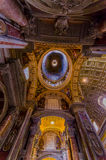 VATICAN, ITALY - JUNE 13, 2015: Roof view of Saint Peter Basilica at Vaticano, indoor view, spectacular work Stock Images
