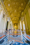 VATICAN, ITALY - JUNE 13, 2015: Spectacular outside hall on Saint Peter Basilica at Vatican, gold covered and marble Royalty Free Stock Photos