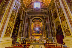 VATICAN, ITALY - JUNE 13, 2015: The tomb of John Paul second inside Vatican basilica, a beloved Pope around the world Stock Image