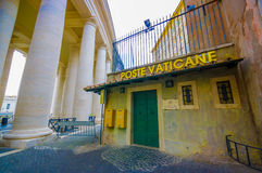 VATICAN, ITALY - JUNE 13, 2015: Vatican post office building outside Vatican Basilica, letters all over the world Royalty Free Stock Photos