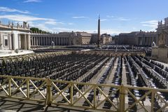 Vatican, ITALY - SEPTEMBER 6, 2016. Audience perspective with em royalty free stock images