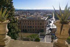 Vatican, ITALY - SEPTEMBER 6, 2016. St Paul`s Cathedral. The vie Royalty Free Stock Images