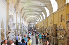 VATICAN - JULY 20: Galleria delle Statue on July 20, 2010 in Vatican Museum. Royalty Free Stock Photography