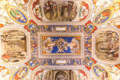 VATICAN - JUNE 09, 2014: The ceiling in one of the rooms of Raph Royalty Free Stock Photos