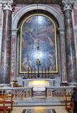 Renaissance paintings in the Saint Peter basilica, Vatican. VATICAN - MARCH 16, 2016: The paintings in the Saint Peter Basilica in Vatican were painted in the stock photos