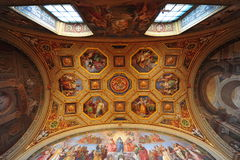 Vatican museum, ceiling frescoes Stock Photo
