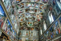 Vatican Museum Ceiling Stock Photos