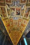 Vatican museum, frescoes and mural paintings Stock Photos