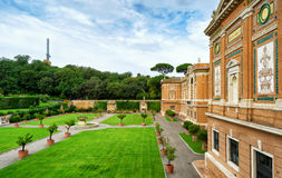 Vatican museum and garden Royalty Free Stock Photos