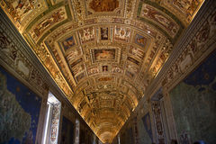 Vatican Museum Inside Map Room Rome. Vatican Museum Inside Ornate Ceiling Map Room Details Stock Photos