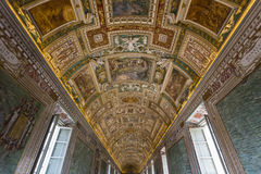 Vatican Museum Map Room Royalty Free Stock Image