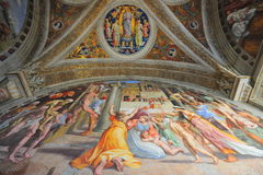 Vatican museum, mural paintings Royalty Free Stock Photos