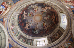 Vatican Museum Painted Dome Rome Royalty Free Stock Photo