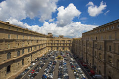 Vatican museum parking Royalty Free Stock Photo