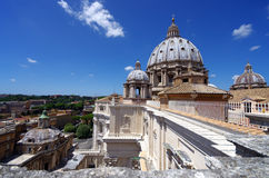 The Vatican Museum in Rome, view from roof Royalty Free Stock Photos