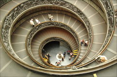 Vatican museum stairs Stock Images