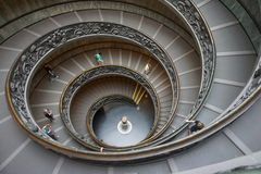 The Vatican Museum stairs Royalty Free Stock Photos