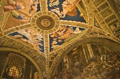 Vatican Museums. Ceiling frescoes in the Vatican Museums Stock Images