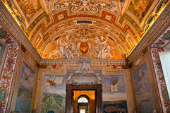 Vatican Museums - ceiling Stock Photos