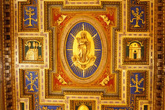 Vatican museums - Ceiling stock images
