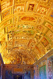 Vatican Museums - Gallery of Vatican. Italy, Rome. Stock Photos