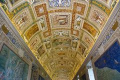 The Vatican Museums, Musei Vaticani, are the public art and sculpture museums in the Vatican City, which display works from the ex Stock Photography