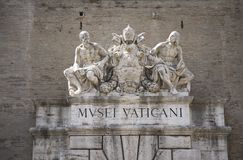 The Vatican Museums, Musei Vaticani, are the public art and sculpture museums in the Vatican City, which display works from the ex Royalty Free Stock Photos