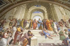 The Vatican Museums, Musei Vaticani, are the public art and sculpture museums in the Vatican City, which display works from the ex. Tensive collection of the Royalty Free Stock Photos