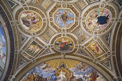 The Vatican Museums, Musei Vaticani, are the public art and sculpture museums in the Vatican City, which display works from the ex Stock Images