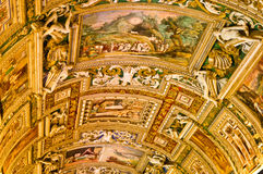 Vatican Museums. Painted ceiling in the Vatican Museum Stock Photo