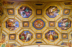 Vatican Museums. Painted ceiling in the Vatican Museum Stock Photos