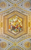 Vatican Museums painting of Thomas Aquinas' Summa contra Gentiles Stock Image