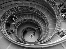 The Vatican Museums. Perspective shot of the stairwell in the Vatican Museums, Rome, Italy royalty free stock images