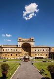 Vatican Museums. Rome - Pinecone Square at Vatican Museums Stock Photos