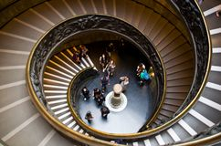 The Vatican Museums. The spiral staircase in Vatican museums in Rome Stock Images