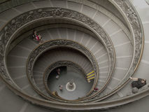Vatican museums staircase. In Rome Royalty Free Stock Photography