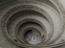 Vatican museums staircase Royalty Free Stock Photo
