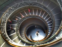 Vatican museums stairs Royalty Free Stock Photography