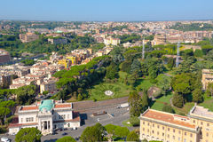 Vatican. Vatican museums the view from the observation deck on the dome of St. Peters Royalty Free Stock Photo