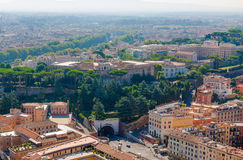 Vatican. Vatican museums the view from the observation deck on the dome of St. Peters Stock Images