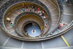 Vatican museumtrappuppgång Arkivbild