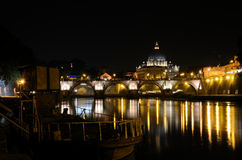 Vatican at Night. Vatican in Rome, Italy at night Stock Photos