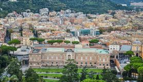 Aerial view of Vatican City stock image