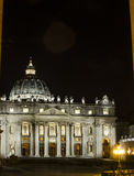 Vatican Palace Pope (rome/nigth). The fixed abode of his holiness in rome Royalty Free Stock Photography