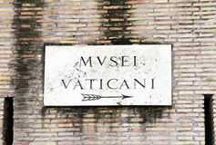 Vatican plate Royalty Free Stock Photo