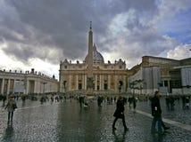 Vatican plaza royalty free stock photo